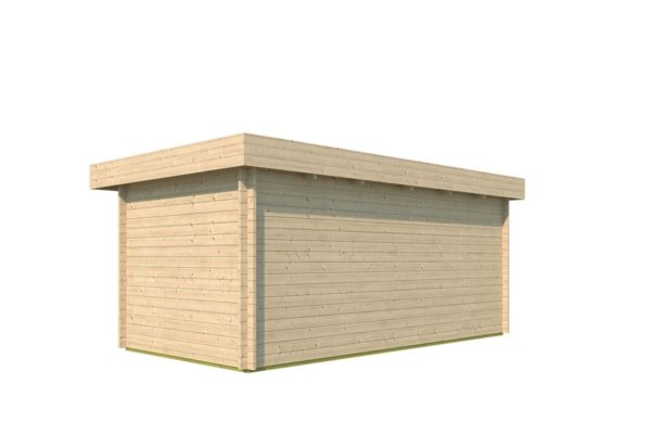 Modern corner shed KURT 44 A | 6.1 x 3.6 m (19'11'' x 11'10'') 44 mm 4