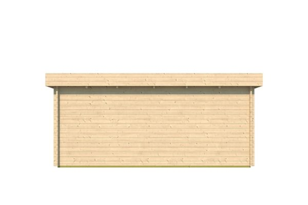 Modern corner shed KURT 44 A | 6.1 x 3.6 m (19'11'' x 11'10'') 44 mm 5