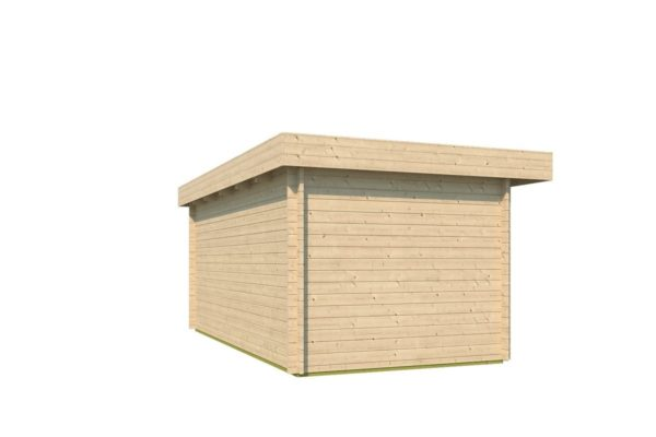Modern corner shed KURT 44 A | 6.1 x 3.6 m (19'11'' x 11'10'') 44 mm 6
