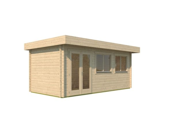 Modern corner shed KURT 44 A | 6.1 x 3.6 m (19'11'' x 11'10'') 44 mm 7