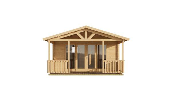 Versatile log cabin LACHLAN 44 B | 7.45 x 4.75 m (24'5'' x 15'7'') 44 mm 2