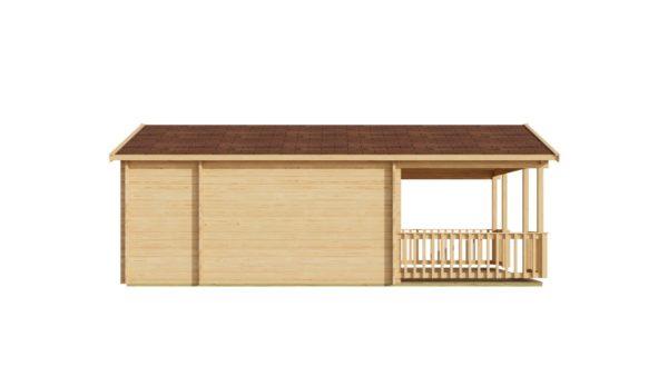 Versatile log cabin LACHLAN 44 B | 7.45 x 4.75 m (24'5'' x 15'7'') 44 mm 5