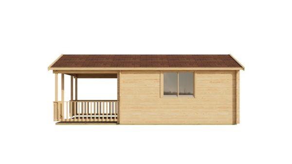 Versatile log cabin LACHLAN 44 B | 7.45 x 4.75 m (24'5'' x 15'7'') 44 mm 4