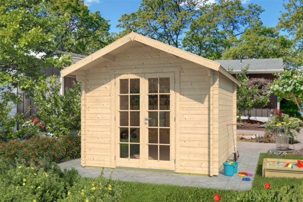 A simple shed with a double door, LEXI 44H | 3.4m x 4.4m (11' 2'' x 14' 5'') 44mm 1