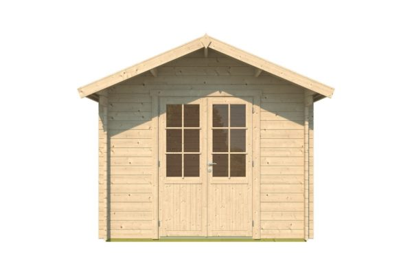 A simple shed with a double door, LEXI 44H | 3.4m x 4.4m (11' 2'' x 14' 5'') 44mm 2