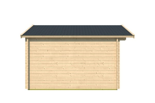 A simple shed with a double door, LEXI 44H | 3.4m x 4.4m (11' 2'' x 14' 5'') 44mm 3