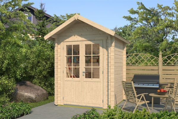 Simple wooden shed LEXI 44 A | 2.1 x 2 m (6'11'' x 6'7'') 44 mm 1