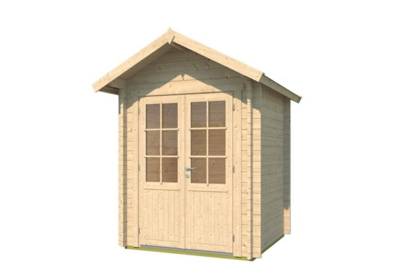 Simple wooden shed LEXI 44 A | 2.1 x 2 m (6'11'' x 6'7'') 44 mm 2