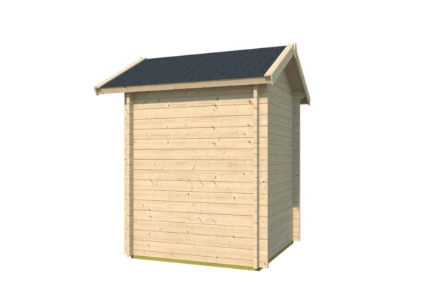 Simple wooden shed LEXI 44 A | 2.1 x 2 m (6'11'' x 6'7'') 44 mm 3