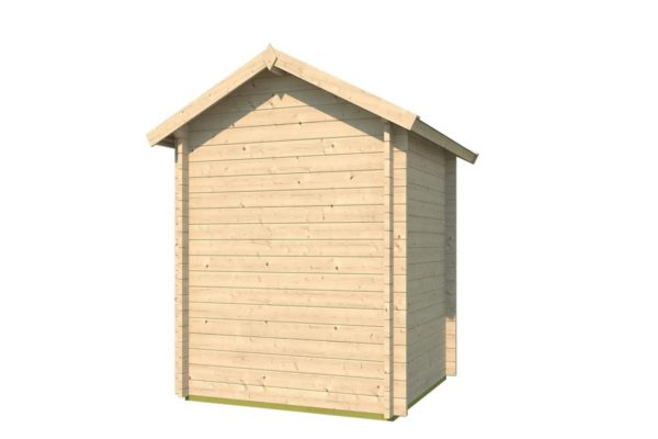 Simple wooden shed LEXI 44 A | 2.1 x 2 m (6'11'' x 6'7'') 44 mm 4