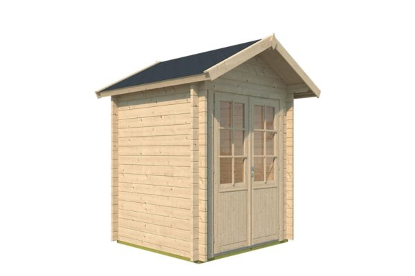 Simple wooden shed LEXI 44 A | 2.1 x 2 m (6'11'' x 6'7'') 44 mm 5