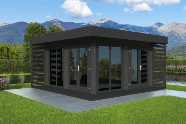 Timber garden office LISA 70 A | 4.6 x 4.6 m (15'2'' x 15'2'') 70 mm 2
