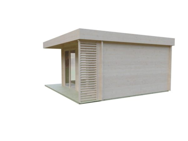 Timber garden office LISA 70 A | 4.6 x 4.6 m (15'2'' x 15'2'') 70 mm 5