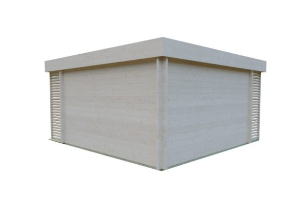 Timber garden office LISA 70 A | 4.6 x 4.6 m (15'2'' x 15'2'') 70 mm 6