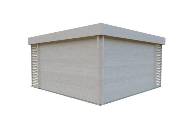 Timber garden office LISA 70 A | 4.6 x 4.6 m (15'2'' x 15'2'') 70 mm 6