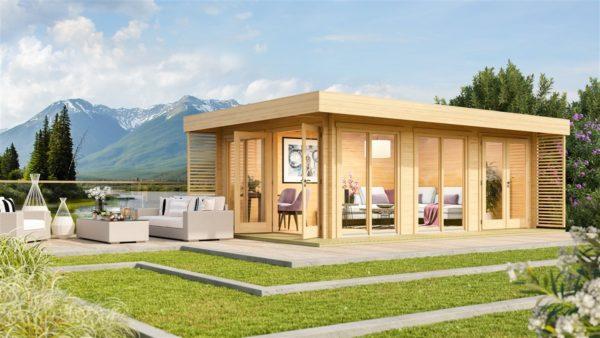 Modern wooden home office LISA B 44 | 6.6 x 4.7 m ( 21'8'' X 15'6'') 44mm 1