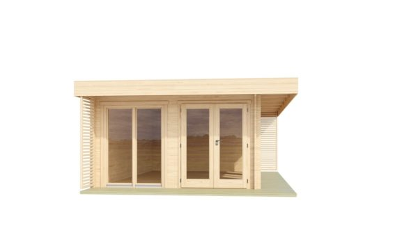 Modern wooden home office LISA B 44 | 6.6 x 4.7 m ( 21'8'' X 15'6'') 44mm 2