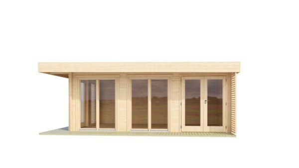 Modern wooden home office LISA B 44 | 6.6 x 4.7 m ( 21'8'' X 15'6'') 44mm 3
