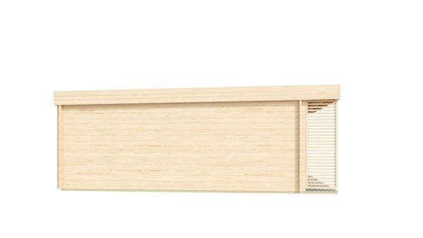 Modern wooden home office LISA B 44 | 6.6 x 4.7 m ( 21'8'' X 15'6'') 44mm 5