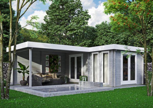 Luxurious 2-room garden annexe Luisa 44 | 6.8 x 4.8 m (22'4'' x 15'9'') 44 mm 1