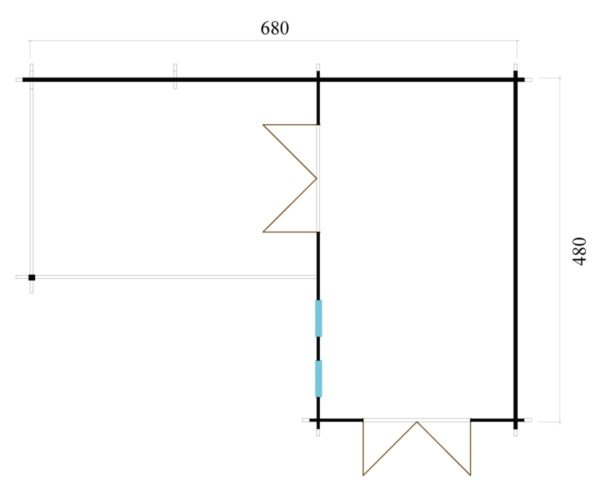 Luxurious 2-room garden annexe Luisa 44 | 6.8 x 4.8 m (22'4'' x 15'9'') 44 mm 10