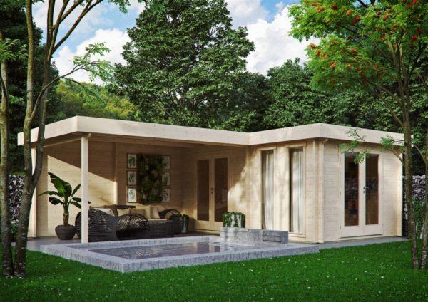Luxurious 2-room garden annexe Luisa 44 | 6.8 x 4.8 m (22'4'' x 15'9'') 44 mm 2