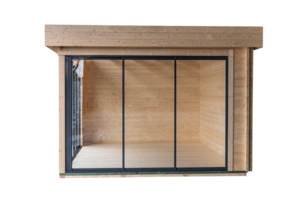 Simple garden room ALU Concept A 44 | 4.8 x 3.6 m (15'7'' x 11'7'') 44 mm 5