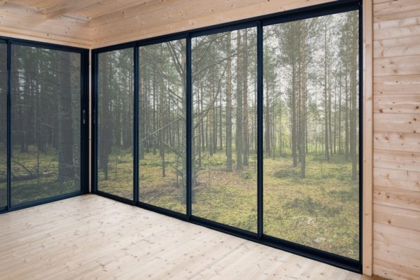 Simple garden room ALU Concept A 44 | 4.8 x 3.6 m (15'7'' x 11'7'') 44 mm 4
