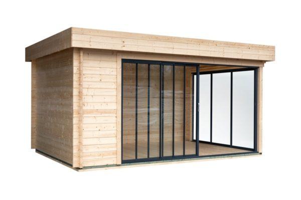 Simple garden room ALU Concept A 44 | 4.8 x 3.6 m (15'7'' x 11'7'') 44 mm 3