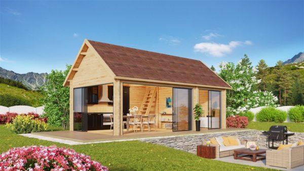 Outdoor Kitchen Lounge MAREK 70 | 8 x 4.6 m (26'5'' x 15'1'') 70 mm 1