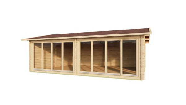 Wooden Garden Gym MARINA 44 | 8.6 x 6.6 m (28'21'' x 21'49'') 44 mm 2
