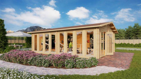Wooden Garden Gym MARINA 44 | 8.6 x 6.6 m (28'21'' x 21'49'') 44 mm 1