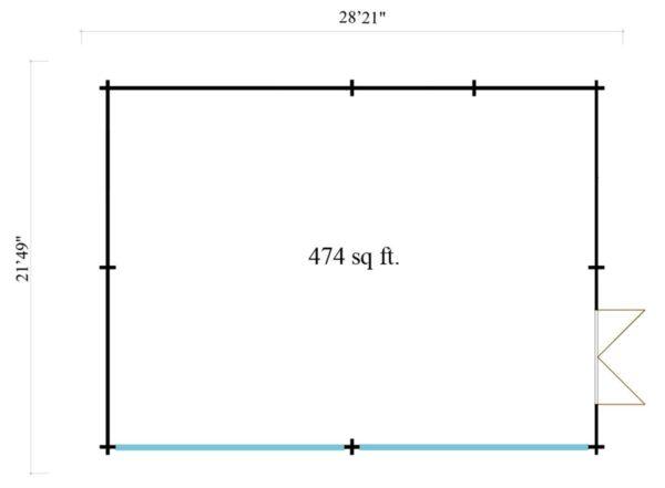 Wooden Garden Gym MARINA 44 | 8.6 x 6.6 m (28'21'' x 21'49'') 44 mm 7