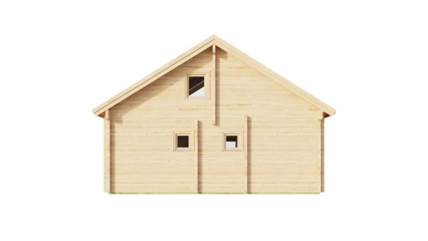 Log cabin with a steam room MARIT 90   7.6 x 7.4 m (24'11' x 23'2'') 90 mm 5