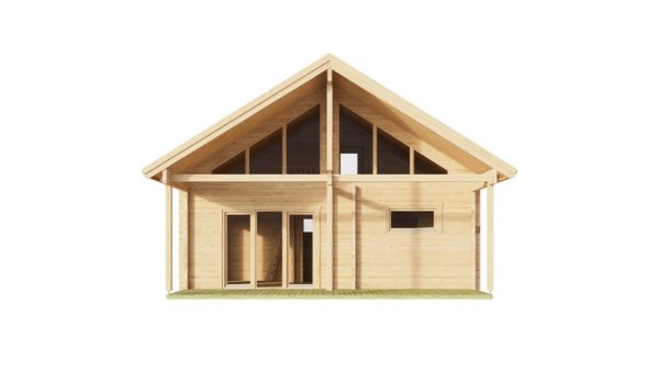 Log cabin with a steam room MARIT 90   7.6 x 7.4 m (24'11' x 23'2'') 90 mm 4