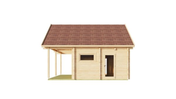 Log cabin with a steam room MARIT 90   7.6 x 7.4 m (24'11' x 23'2'') 90 mm 2