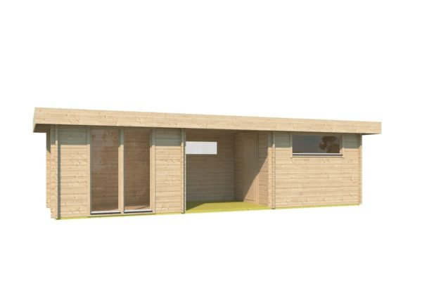 Garden house with 2 separate rooms MILAN 44 | 9.8 x 3.4 m (31'11'' X 11'1'') 44 mm 2