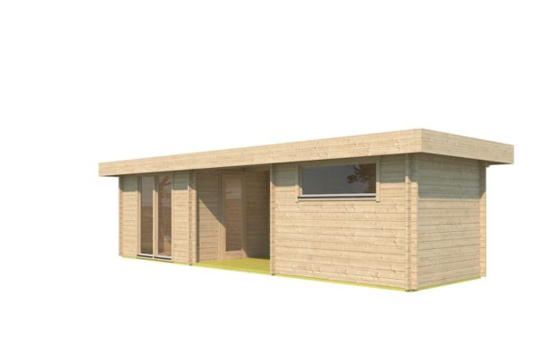 Garden house with 2 separate rooms MILAN 44 | 9.8 x 3.4 m (31'11'' X 11'1'') 44 mm 3