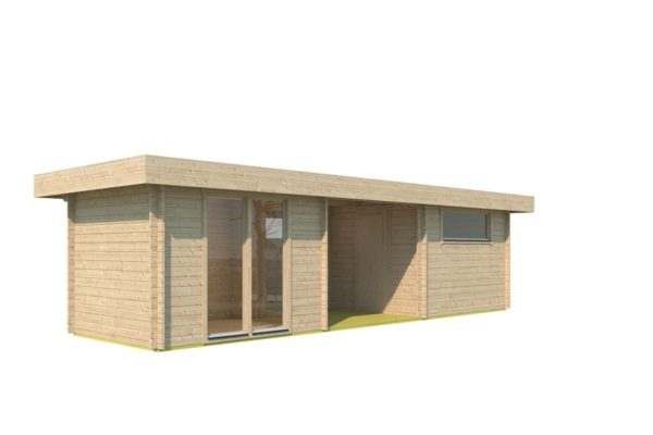 Garden house with 2 separate rooms MILAN 44 | 9.8 x 3.4 m (31'11'' X 11'1'') 44 mm 7
