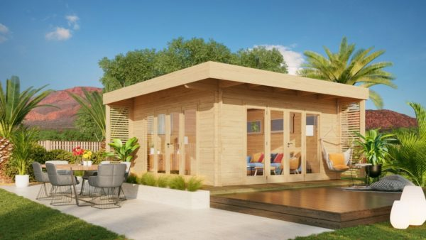 Modern garden room MURRAY DARLING 44 | 4.7 x 4.7 m (15'5'' x 15'5'') 44 mm 1