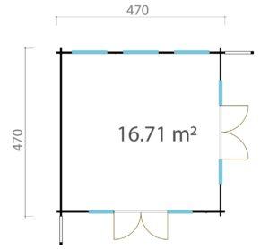 Modern garden room MURRAY DARLING 44 | 4.7 x 4.7 m (15'5'' x 15'5'') 44 mm 7