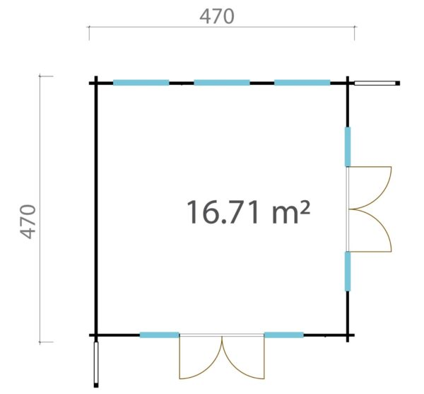 Modern garden room MURRAY DARLING 44 | 4.7 x 4.7 m (15'5'' x 15'5'') 44 mm 6