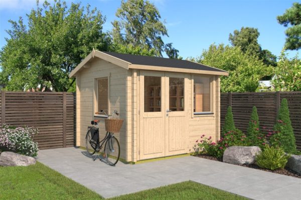 Compact garden office NARVIC 70 A | 3.3 x 3.2 m (10'7'' x 10'5'') 70 mm 1