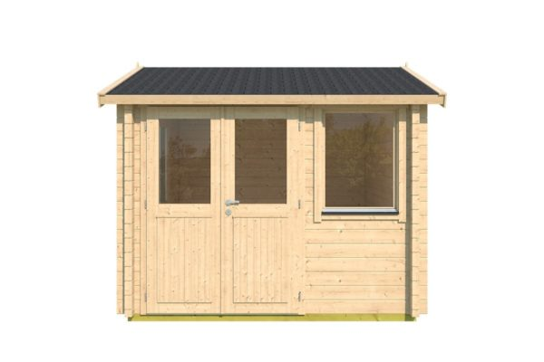 Compact garden office NARVIC 70 A | 3.3 x 3.2 m (10'7'' x 10'5'') 70 mm 2