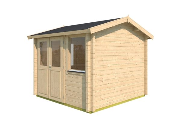 Compact garden office NARVIC 70 A | 3.3 x 3.2 m (10'7'' x 10'5'') 70 mm 3
