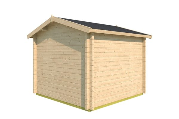Compact garden office NARVIC 70 A | 3.3 x 3.2 m (10'7'' x 10'5'') 70 mm 4