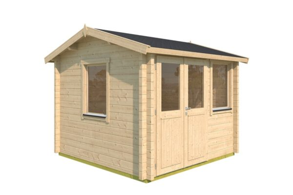 Compact garden office NARVIC 70 A | 3.3 x 3.2 m (10'7'' x 10'5'') 70 mm 6