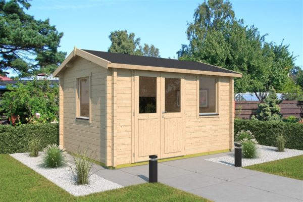 Simple garden cabin NARVIC 70 B | 4.3 x 3.2 m (13'10'' x 10'5'') 70 mm 1