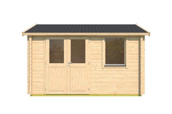 Simple garden cabin NARVIC 70 B | 4.3 x 3.2 m (13'10'' x 10'5'') 70 mm 2