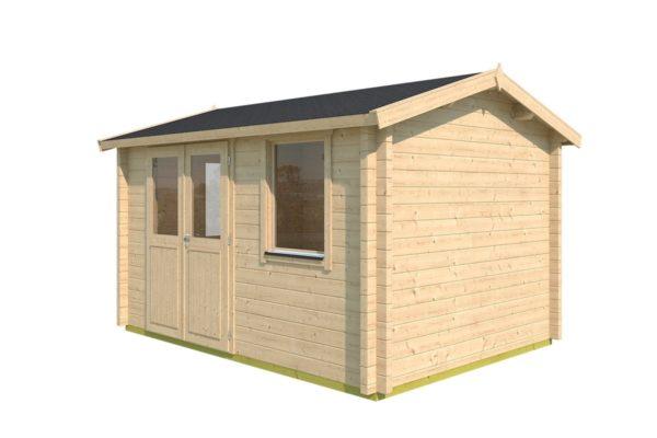 Simple garden cabin NARVIC 70 B | 4.3 x 3.2 m (13'10'' x 10'5'') 70 mm 3